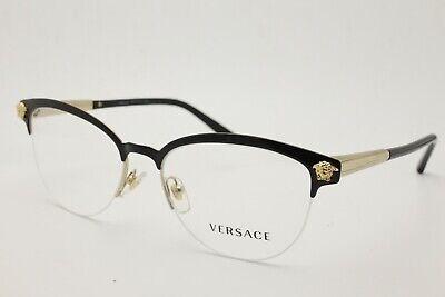 Versace 1235 Eyeglasses 1371 Black Frames 53mm