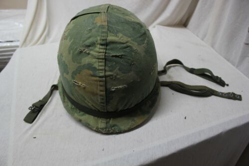US Military Paratrooper Vietnam Era M1 Helmet Liner Mitchell Pattern Cover A64