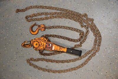 Harrington 3 Ton Lb030 Chain Hoist Come Along W 10ft Chain 3ton 6000 Lbs