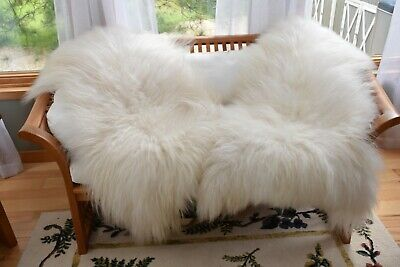 Bargain Icelandic Sheepskin Rug or Blanket,Soft Long Wool, Great for Pet Beds