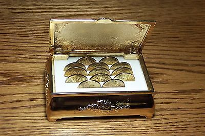 Group Lot Pf 13 Mexico Marriage Tokens In Trinket Box