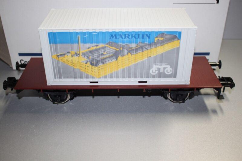 Märklin 5411 2-Achser Container Load Car With Herstellerwerbung Gauge 1 Boxed
