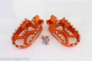 AIRTIME-BILLET-CNC-WIDE-FAT-FOOT-PEGS-KTM-EXC-XC-SX-SXF-125-530-1998-2015
