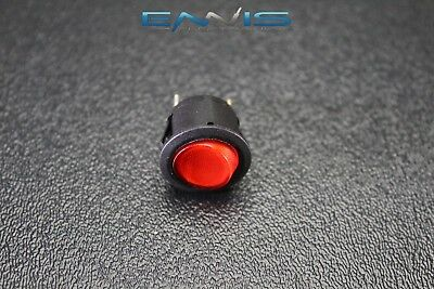 Round On Off Rocker Switch Mini Toggle Red Led 34 Mount Hole Ec-1215rd