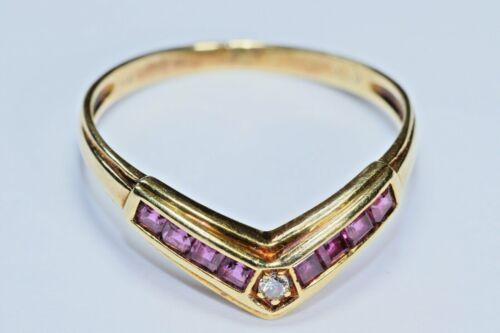Ruby and Diamond Tiara Ring