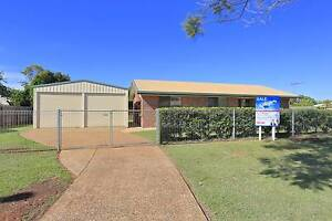 TIDY 3 BEDROOM BRICK WITH 6M x 6M POWERED SHED Avenell Heights Bundaberg City Preview