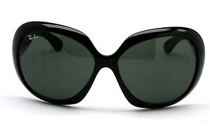 New RAY BAN Sunglasses Authentic RB 4098 601/71 JACKIE OHH II Black Oversized