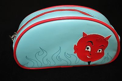 Fluff Faux Leather Happy Devil Cosmetic Bag (Devil Make Up)