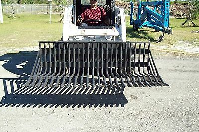 Skid Steer 75 Rock Bucketclearing Rake2 Spacingbradco Heavy Duty