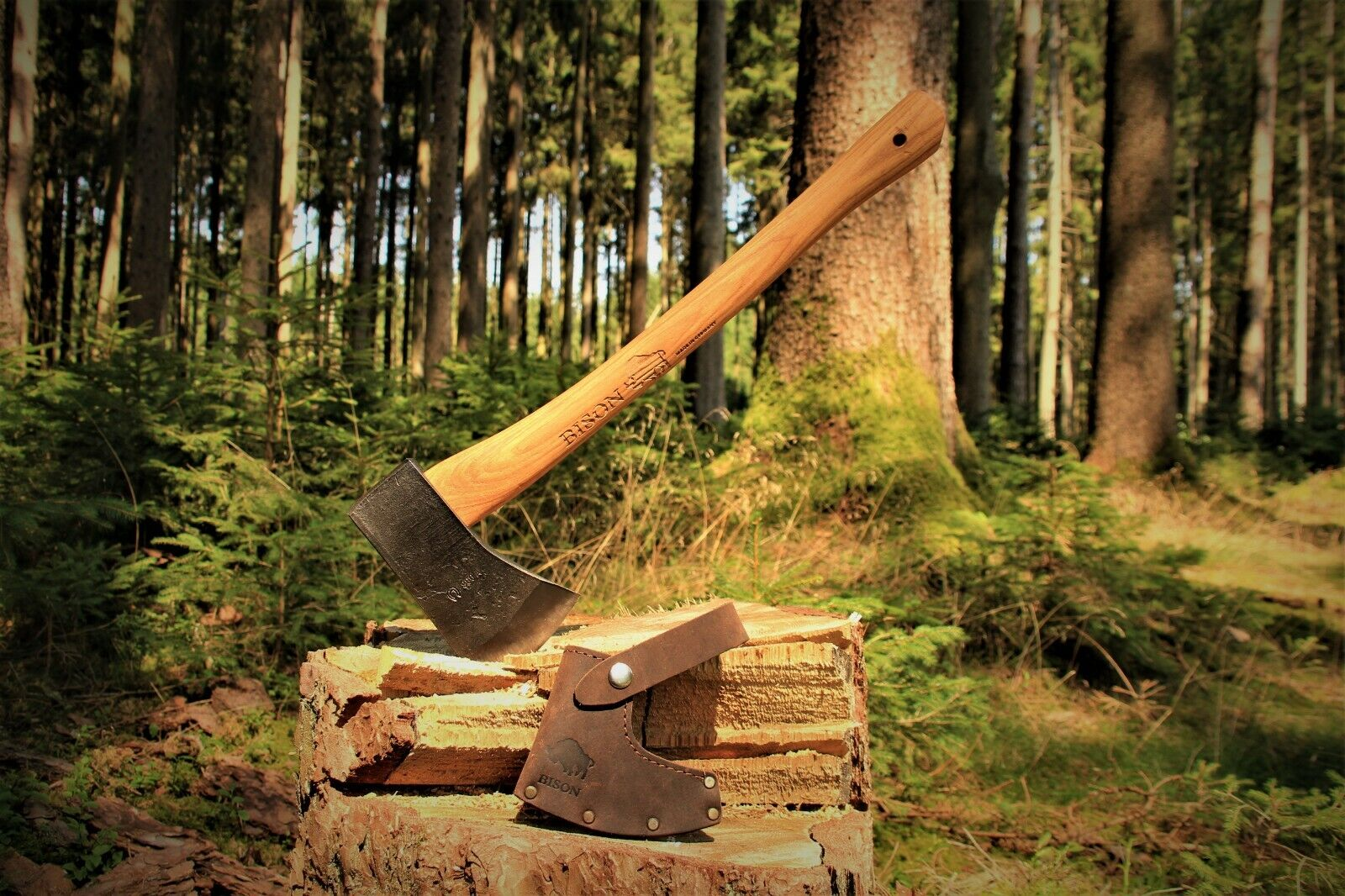 Handgeschmiedete Bison 1879 Yankeebeil Beil Axt Outdoor Survival Made-in-Germany