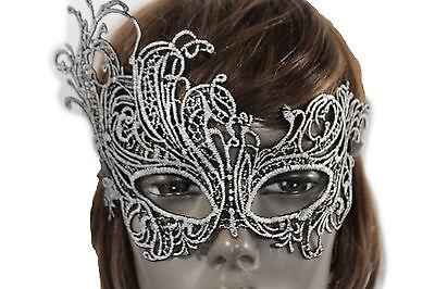 Neu Damen Herren Halbes Gesicht Eye Maske Kostüm Schwarz Stoffblumen Filigran ()