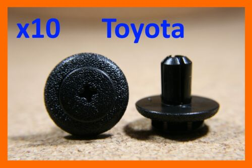 10 Toyota door card fascia panel push type screw fasteners clips, boot trunk pin