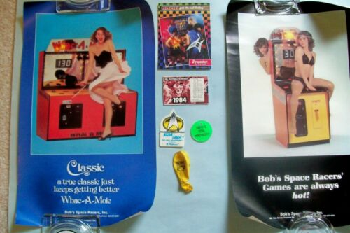 Lot of 7 Different Trade Show Promo Items for 1980s/1990s Pinball & Arcade Games
