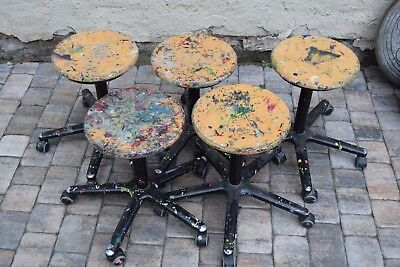 5 Atelier-Hocker-Drehstuhl Loft-stool chair Loft/Industriedesign Künstler-Stuhl