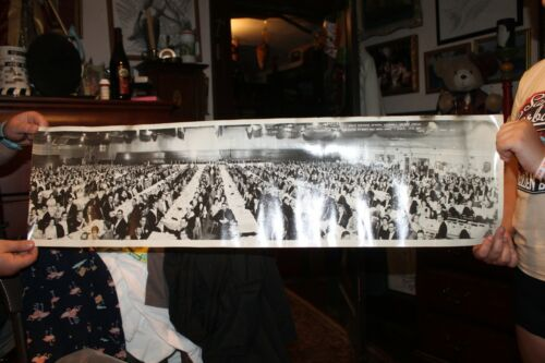"""Vintage 1960 Knights of Columbus Photo Auspices Cabot Connecticut 10"""" x 36"""""""