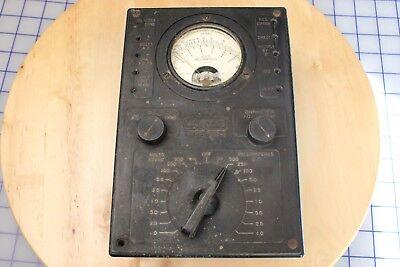 Vintage Jackson Model 665-j Antique Multi Meter Volts Milliamperes Ohms