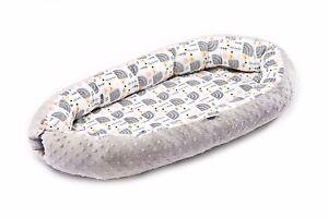 Newborn Baby Cocoon Sleep Nest Cushion Breathable Snuggle Pod - Grey