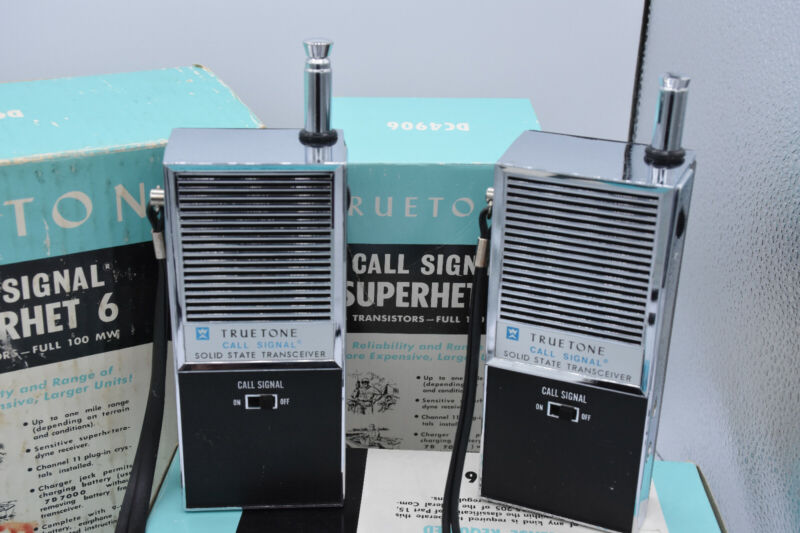 Vint Pr TrueTone DC4906 Walkie Talkie Superhet 6 Transceivers TESTED w/  Boxes++