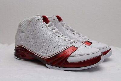 cc0c85a1df71e6 DS 2008 Air Jordan XX3 23 size 11 White Varsity Red Metallic Silver xi iii  iv v