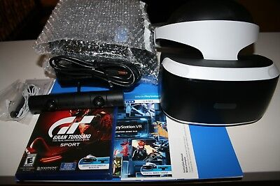 SONY PSVR PLAYSTATION PS VR GRAN TURISMO SPORT BUNDLE Factory Refurbished No Box