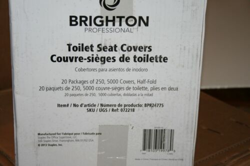 CASE of 5000 Brighton Professional Half-Fold Toilet Seat Covers BPR24775 20 Pack