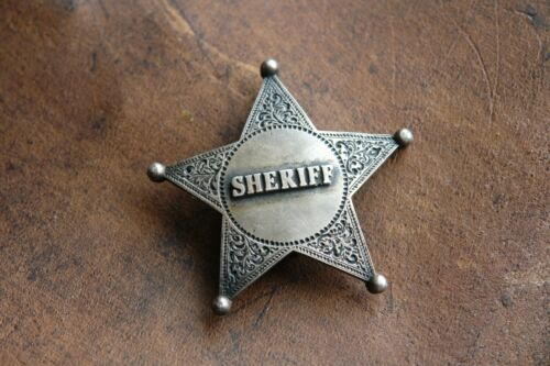 RARE SHERIFF Sterling Silver Badge Antique Old West