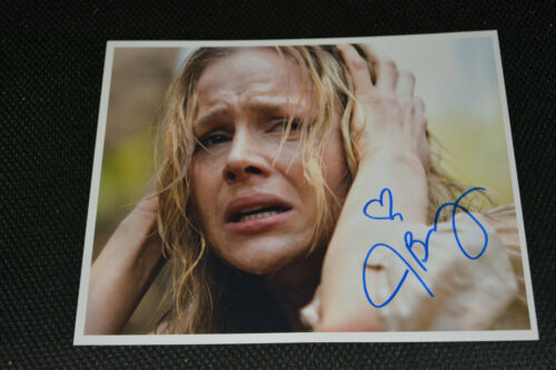 JULIE BENZ signed Autogramm 20x25 cm In Person RAMBO Sylvester Stallone