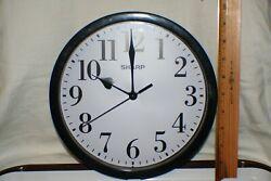 Black Sharp 10 Wall Clock Quartz Sweep Easy to Read Non Ticking Arabic Numbers