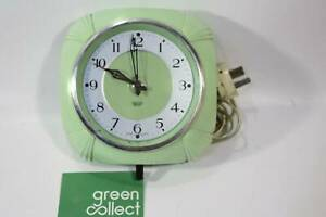 Smiths Sectric Green vintage/Retro Electric Wall clock (1102) Braybrook Maribyrnong Area Preview