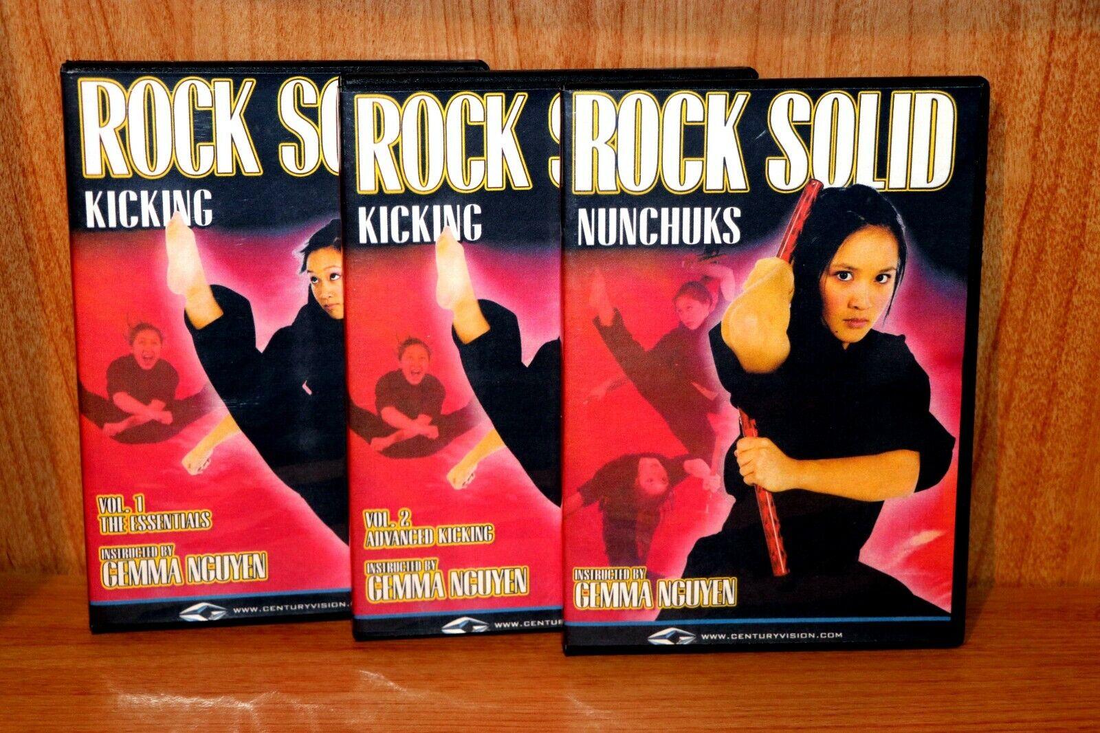 как выглядит Gemma Nguyens Rock Solid Kicking Nunchaku 3 DVD Set фото
