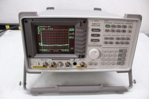 HP Agilent Keysight 8591C Cable TV Analyzer 1.8 GHz  1 4 101 102 105 107 11 43