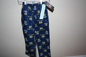 Notre-Dame-Fighting-Irish-Football-Pajamas-PJ-Lounge-Pants-Kids-Boys-Sz-4