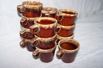 Hull Brown Drip Glaze Pottery, Oven Proof Coffee Tall Mug / Cup