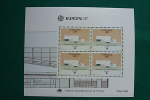 LOT 776 TIMBRES STAMP BLOC FEUILLET EUROPA 87 PORTUGAL ANNEE 1987 - France - Type: Enveloppe - France