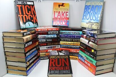 Lot of 10 James Patterson Hardcover Books - Random - Free Shipping