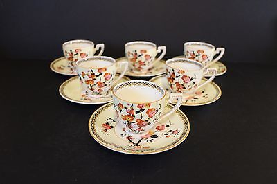 CROWN DUCAL COFFEE SET CUPS AND SAUCERS VINTAGE ART DECO