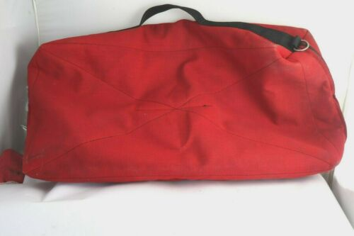 Red Canvas Sherpa Lined Western Boot Storage & Travel Carrier Case