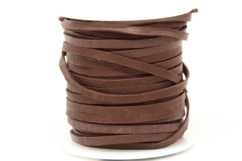 Deerskin Deer Leather Lace Spool Roll 1/8 3MM 50 Ft Lacing Cord String Chocolate