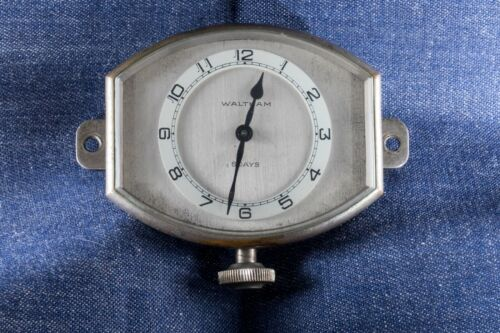 Vintage Car Clock, 8 Day movement ( Waltham )