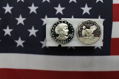 1980 S Proof Susan B Anthony Dollar Roll - 20 coins - from proof sets Anthony Dollar Roll 20 Coins