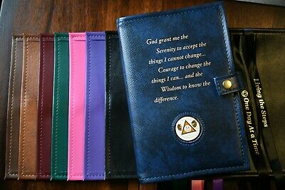 Deluxe Double AA Big Book Cover for Alcoholics Anonymous Big Book & 12&12 Big Book Cover
