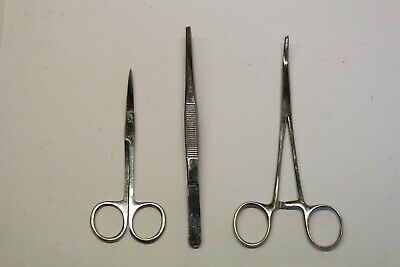 Medical Instruments Set Tweezers Scissors Hemostat Forceps