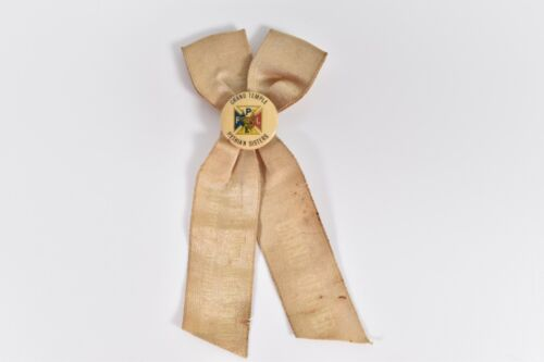 1913 Grand Temple Pythian Sisters 10th Annual Officer Ribbon Pinback Portland ME