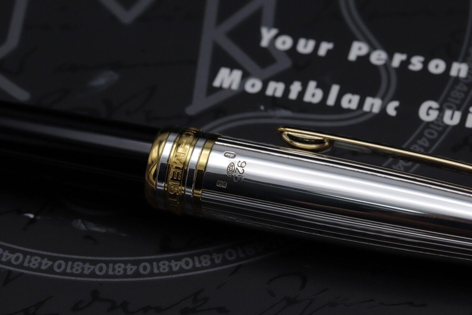 Montblanc Meisterstuck Solitaire Doue AG925 163 Classique Rollerball Pen 3