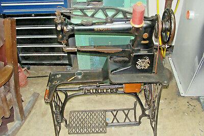 Vintage Singer Industrial Sewing Patch Machine Shoe Repair Long Arm Stand 29k 60