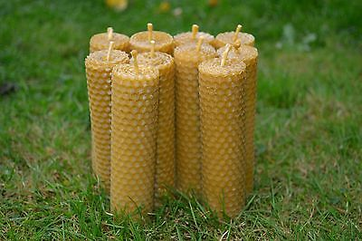 "HANDMADE PURE BEESWAX CANDLES ""SET OF 10 CANDLES"" 100 % ORGANIC"