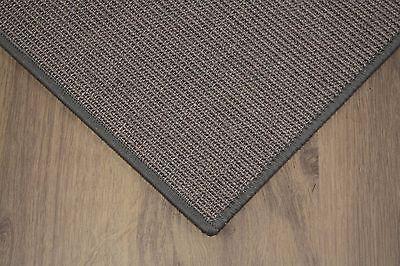 Sisal Teppich umkettelt grau 150x200cm 100% Sisal gekettelt