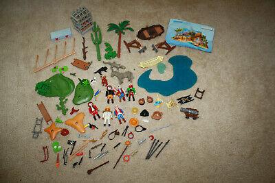 Playmobil Figures/Parts Lot Mostly Pirates Animals & 4156 Advent Calendar R619