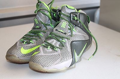 timeless design 4f439 a8ddf NIKE Lebron James 123084 Basketball SNEAKERS size 10 Green   Gray