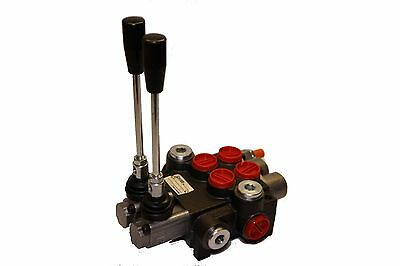 Hydraulic Control Valve Two Spool 10 Gpm 3625 Psi Max Open Center